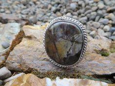 Mosaic jasper statement ring. Size 8, #326 by Sandy River Jewelry