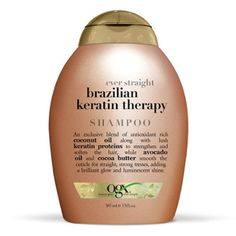 The Ten Best Straightening Shampoos // #1 OGX Ever Straight Brazilian Keratin Therapy Shampoo  // Check out the rest of the best here!