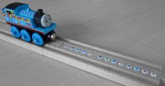 Personalized BRIO Wooden Train Track with letter by WoodpeckersCH, 10.50 - This shipped fast and is a great personalized gift for birthdays and holidays!