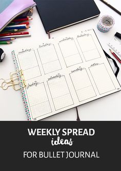 Should you use a weekly spread in your bullet journal? Click through for some practical ideas for how and why to use a weekly spread...
