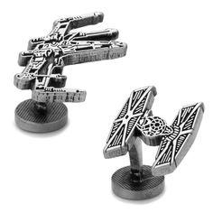 Star Wars X-Wing and TIE Fighter Battle Ships Cufflinks