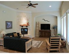 2161 Rockcliffe, College Station, TX Immaculate 4 bed 3 bath home located in popular Castlegate. Expansive living room is accentuated by a floor to ceiling rock fireplace & a wall of windows. The kitchen is a chef's delight with lovely granite counters, tons of cabinet & counter space, huge island with eating bar, & breakfast area. All bedrooms are large & split 3 ways with a built in desk in the hall between 2 bedrooms.  Formal dining is gigantic as is the covered patio.