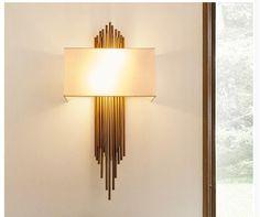 D45cm H95cm White Golden LED Wall Lamp For Bathroom Bedroom Wall Sconce Indoor Lighting Lamp AC 90-260V LED Wall Lighting #Affiliate