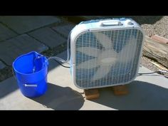 """Homemade Evaporative Air Cooler! - Simple """"Box Fan"""" Off the grid SOLAR Redneck Air Conditioner"""