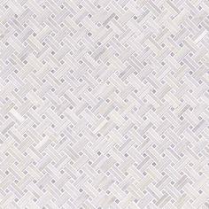 Greecian White Basketweave Pattern 2 Polished