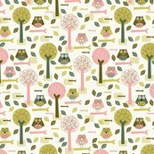 Autumn Forest fabric by mondaland, click to view