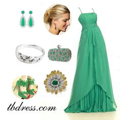 Elegant A-line spaghetti strap beading long prom dress