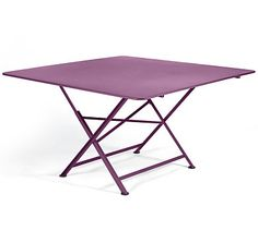Table carrée pliante 130 x 130 cm FERMOB Cargo