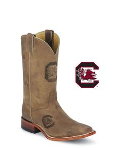 Nocona Men's South Carolina Gamecocks Branded Boot  http://www.countryoutfitter.com/products/30105-mens-south-carolina-gamecocks-branded-boot