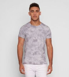 Ultrasoft organic cotton tee with a tie-dye print Raw edge detailing at neckline, cuffs and hemline Short sleeve Crew neck Relaxed, slim fit Organic Cotton Imported Sustainable Fashion, Organic Cotton, Tie Dye, Slim, Tees, Mens Tops, Chemises, Tye Dye, Tee Shirts