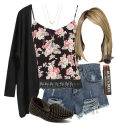 """""""Edgy Hanna Marin inspired outfit with a floral tank top"""" by liarsstyle ❤ liked on Polyvore"""