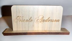 Wood Place Cards from www.uniquecustomproducts.com  #wedding #weddingideas #weddingplanning #wood #namecards #placecards #engraving #design Fort Collins, Name Cards, Wood Species, Weddingideas, Wedding Planning, Place Card Holders, Design, Wedding Ceremony Outline, Design Comics
