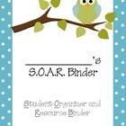 Make organization for students easy with my Owl Themed SOAR Organization Binder For Students!    I use this organization binder with my students ever...