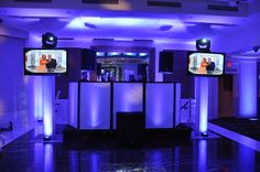 Dual HD Plasma and white DJ Facade @ The Westmount C.C.