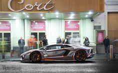 Chrome plated Lamborghini Aventador - @Gumball 3000 (2012)