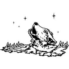 Heulender Wolf in einer Winternacht.  Spreadshirt - Tablomat
