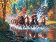 Gallery.ru / Фото #1 - Mark Kheatley-Konie wsrod jesiennych drzew - himmelin