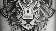 ein mandala löwe als tattoo