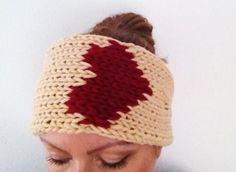 Kopfband mit Herz, warm, mollig  und weich. Desiderija