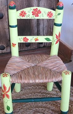 Small Armchair For Bedroom Painted Chairs, Painted Furniture, Modern Dining Chairs, Outdoor Chairs, Small Swivel Chair, Overstuffed Chairs, Restaurant Tables And Chairs, Mexican Crafts, Colorful Chairs