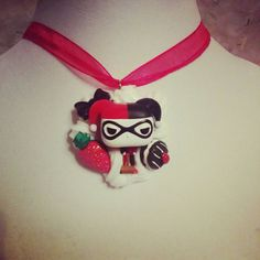 Chibi Harley Quinn Decoden Necklace Kawaii Whipped Cream and Candy Desserts Chocolate These are ready to ship jewelry pieces.  Each is unique and made by hand using only licensed toys. Combination of whipped cream that squishes together