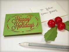 Laser Cut Happy Holidays Mini Card Set from Alexis Mattox Design