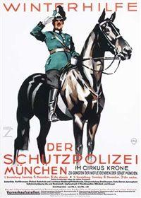 """""""Winterhilfe der Schutzpolizei"""", München - Illustration, Graphic, Typeface, Typography by Ludwig Hohlwein (b.1874 - d.1949, Germany)."""
