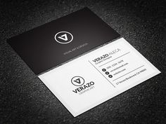 Minimal Black & White Business Card by Verazo on Creative Market - http://crtv.mk/s08Bq