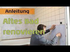 Bad Bad neu gestalten - Boden und Wände im alten Badezimmer renovieren mit planeo - YouTube