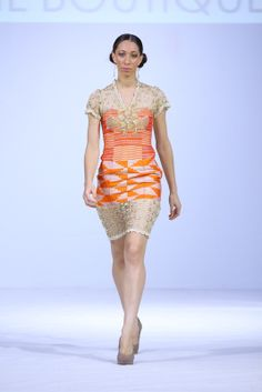 5.JIL BOUTIQUE KENTE EMBELLISHMENT @ GHANA FASHION & DESIGN WEEK 2013 Incorporation of Kente fabric