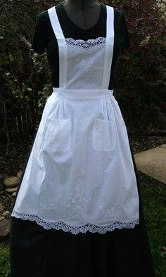 Cluny lace apron
