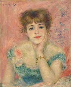 Portrait of Jeanne Samary (La Reverie)  1877 Oil on canvas, 56 x 46 cm Pushkin Museum, Moscow