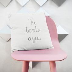 Original pillow with your own personal text or quote, May be a love declaration, some song lyrics, a way to say sorry or to ask for marriage - you decide what you want to say and I hand print it for you on this elegant 100% cotton cushion with a special vintage tecnique that allows each piece to be absolutely unique. By My Home and Yours