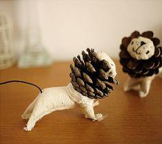 Новогодние идеи украшений из шишек. Обсуждение на LiveInternet - Российский…