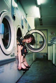 Photoshoot Concept, Film Photography, Creative Photography, Fashion Photography, Coin Laundry, Laundry Shoot, Film Camera 35mm, Photoshoot Inspiration, Stuart Weitzman