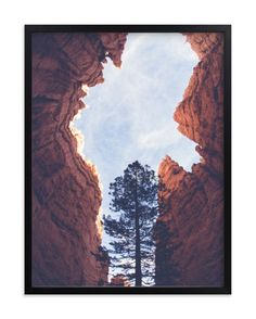 """""""Red Rock and Sky"""" - Art Print by Melissa Walls in beautiful frame options and a variety of sizes."""
