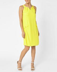 Robe ample  unie jaune. Jacqueline Riu 60€