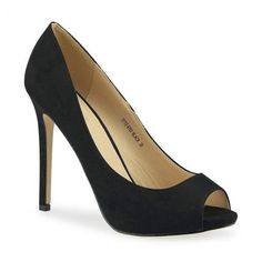 Stylische Peeptoes, günstige Alternative zu Naomie Harris's Schuhen #affordable #black #highheel #peeptoe #oscars2014 #jepo #shoes