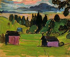 Gabriele-Munter-View-of-the-Murnau-Moors-1908-