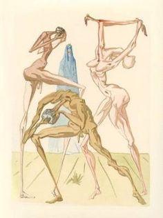 La Divina Commedia nelle magnifiche illustrazioni di Salvador Dalì #illustrations