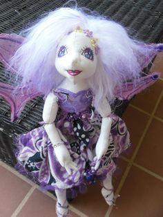 ooak fairy soft cloth art doll  fae faery by jansfabfairies