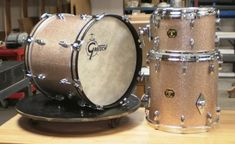 Gretsch drums in copper sparkle finish