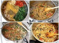 Włoski kociołek błyskawiczny...Pomysł na MEGA SZYBKI OBIAD ♥ Japchae, Ethnic Recipes, Food, Essen, Meals, Yemek, Eten