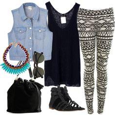 """""""Wearing Today"""" Saturday Errands. Jean Vest"""