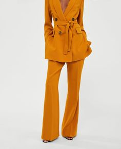 Image 5 of FLARED TROUSERS from Zara Trouser Outfits, Pants Outfit, Trousers Women, Women's Trousers, Zara, Flare Pants, Minimal Wardrobe, Outfit Combinations, Fashion Outfits