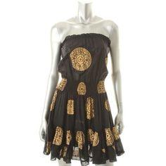 Victoria's Secret Black Boho Strapless Dress BRAND NEW Dress Length: Above Knee, Mini Total Length: 27 1/2 Inches Material: 100% Cotton.....Size Small, Fits TTS Victoria's Secret Dresses