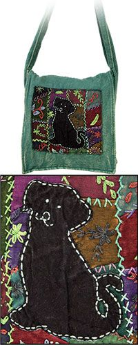 Patchwork Dog Messenger Bag at The Animal Rescue Site--next purse!