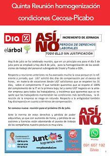REDACCIÓN SINDICAL MADRID: Quinta Reunión homogenización condiciones Cecosa-P...