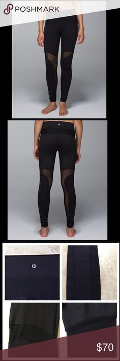 Breathe Easy Pant from lululemon High waisted pants with designed ventilation for breath ability. Luon fabric placed on waist band and bottom half with luxtreme fabric placed on behind for tough work outs that need better support ( plus NO pilling happening). Four way stretch fabric with shape retention. In perfect condition! lululemon athletica Pants Leggings