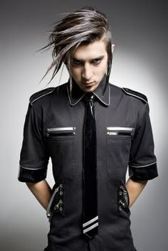 Cyber/ Corporate Goth: 'Men's Futuristic Shirt' by PurPur at Immoral Fashion